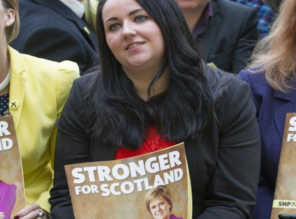 Scottish National Party MP Angela Crawley's card was suspended when she ran up a £2,152.68 bill on it