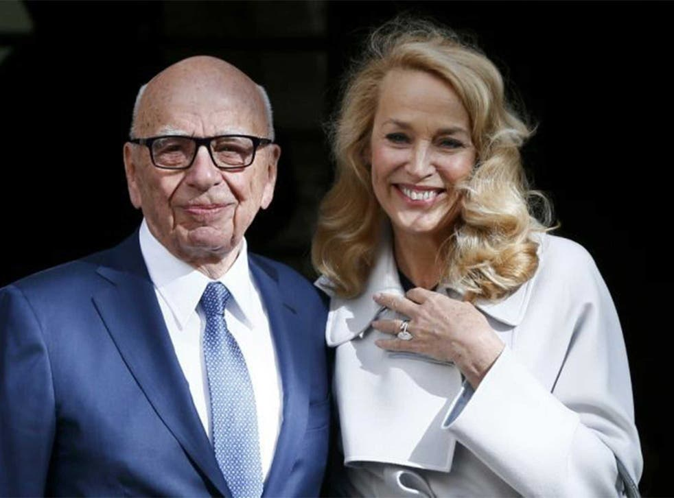 Rupert Murdoch and Jerry Hall leave Spencer House after the wedding ceremony
