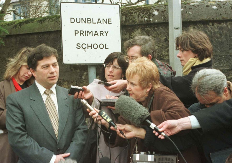 Dunblane Primary School Head Teacher Ron Taylor Speaking To Reporters On The Day Pupils Returned Following
