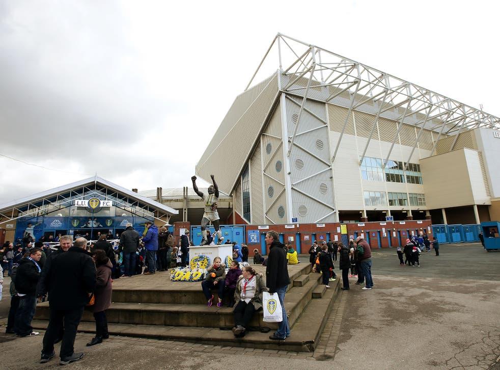 The scene outside Elland Road prior to Leeds United vs Bolton Wanderers
