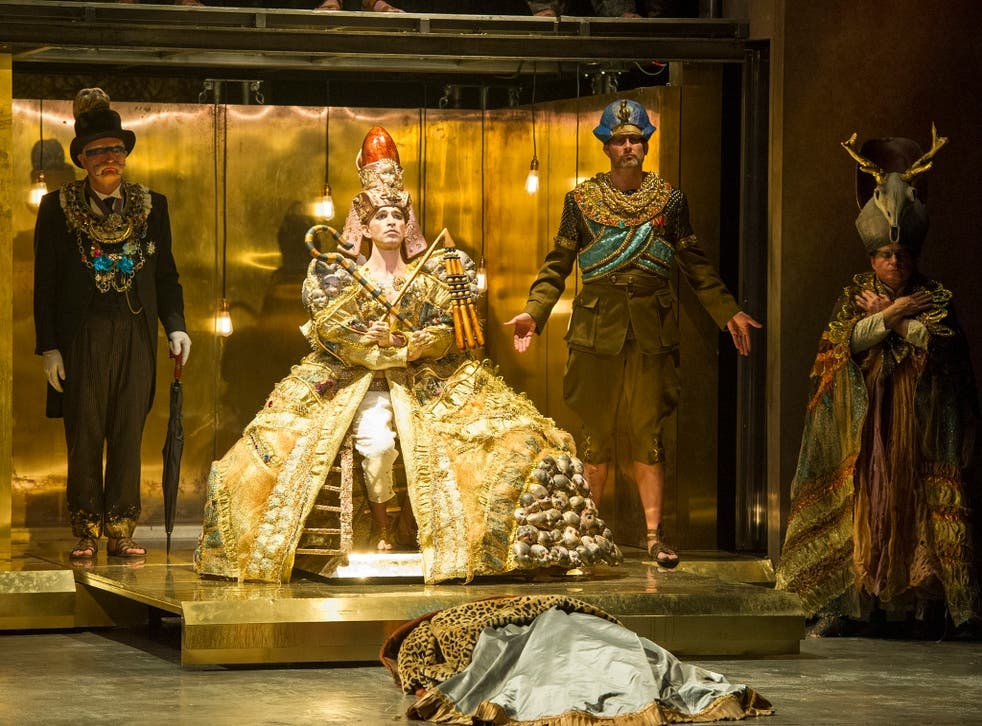 Clive Bayley, Anthony Roth Costanzo, James Cleverton and Colin Judson in Akhnaten