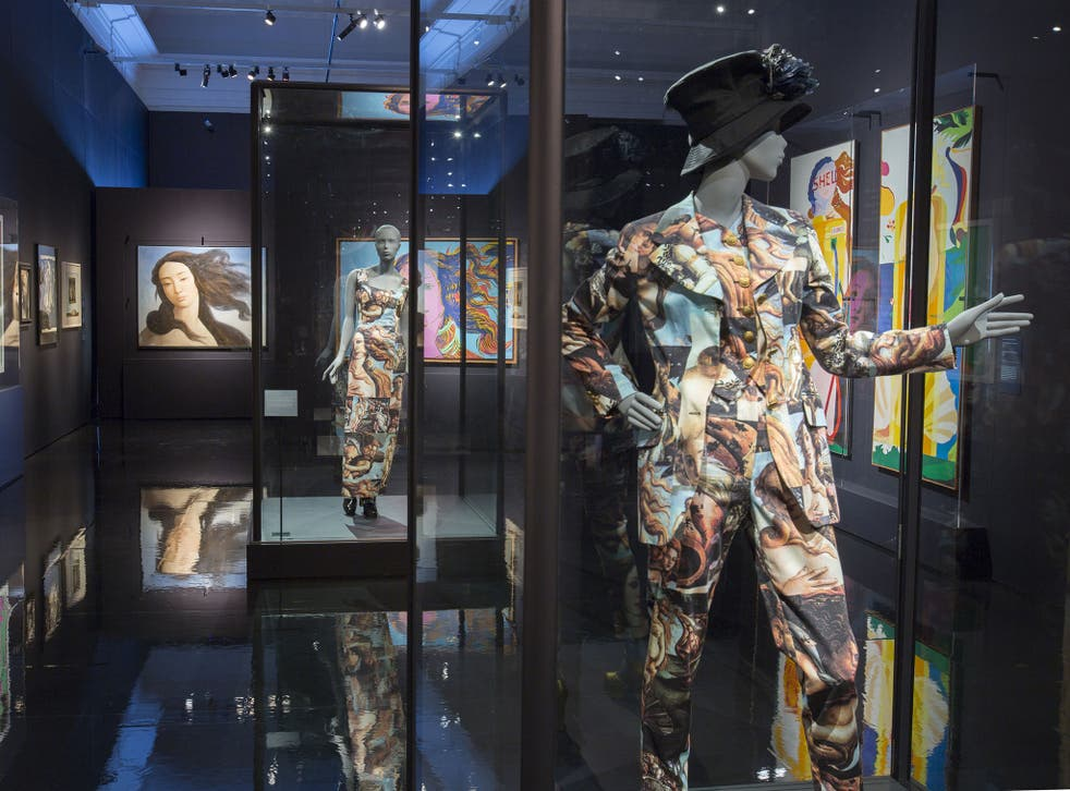 Installation view of Botticelli Reimagined at the V&A.