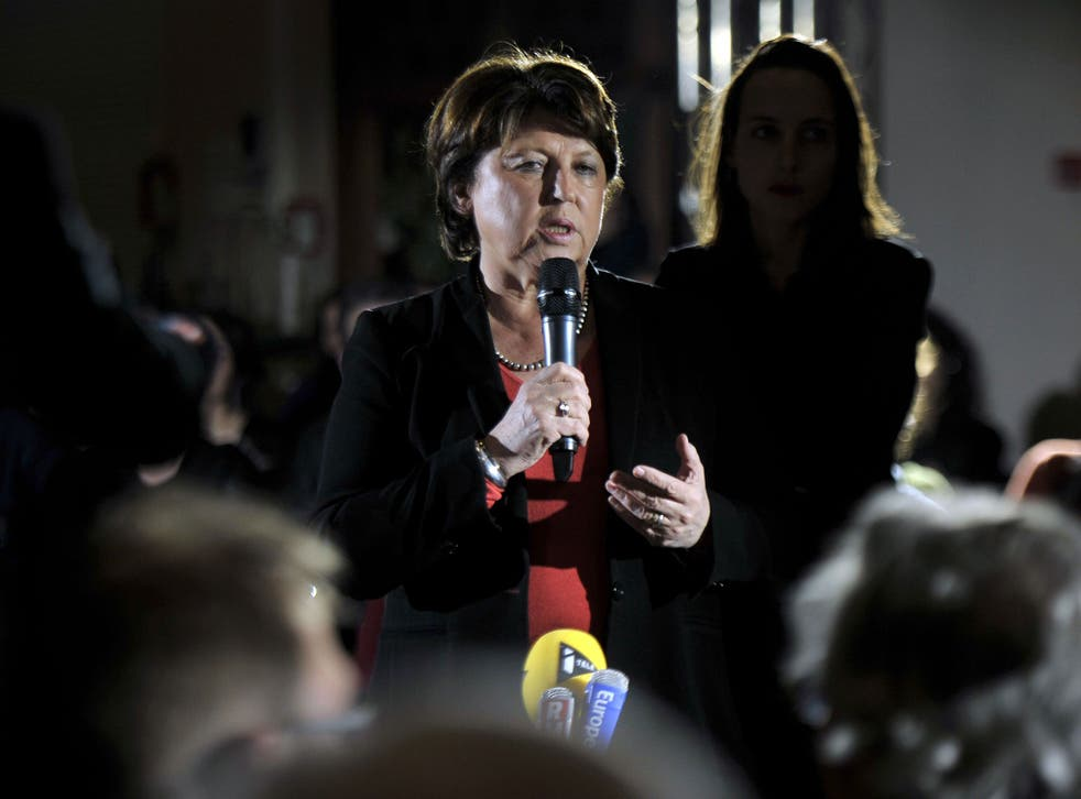 Former Socialist leader Martine Aubry, the 'mother of the 35-hour week', has led protests