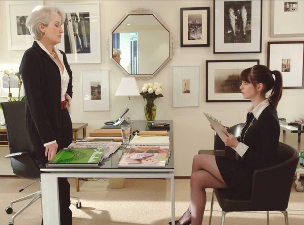 Meryl Streep and Anne Hathaway in The Devil Wears Prada