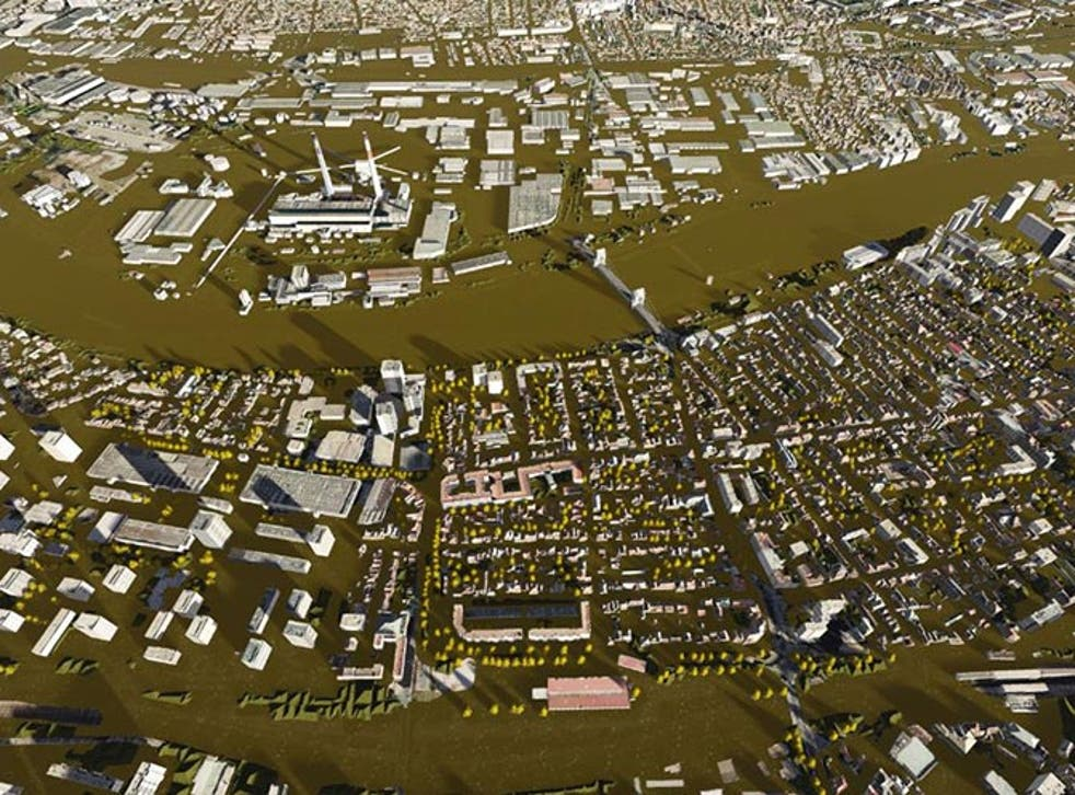 An image predicts how Paris would become submerged in water