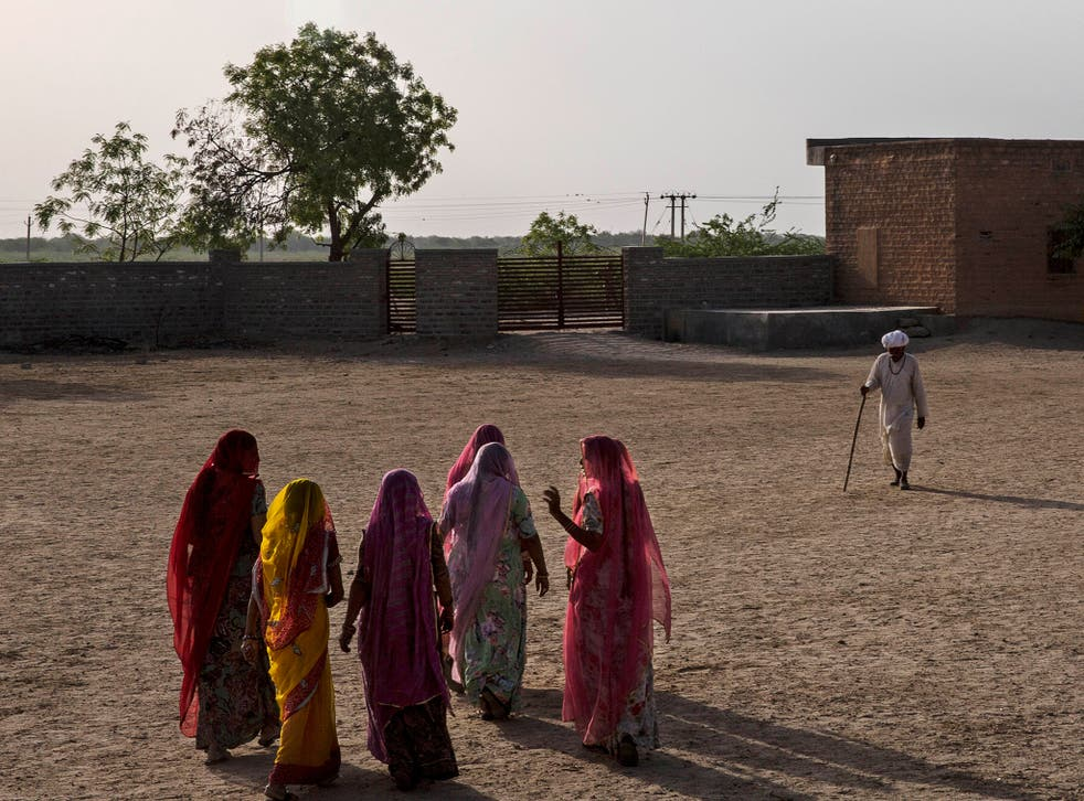 File photo of women in the western state of Rajasthan in India, where Rama Kunwar was allegedly burned to death