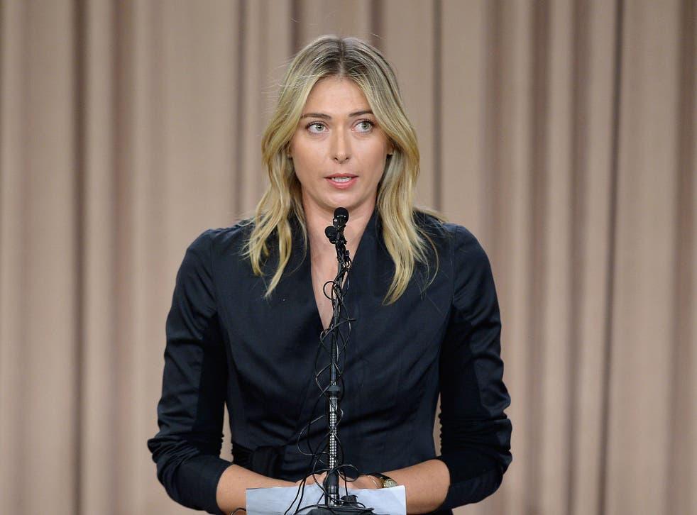 Maria Sharapova addresses the media regarding a failed drug test