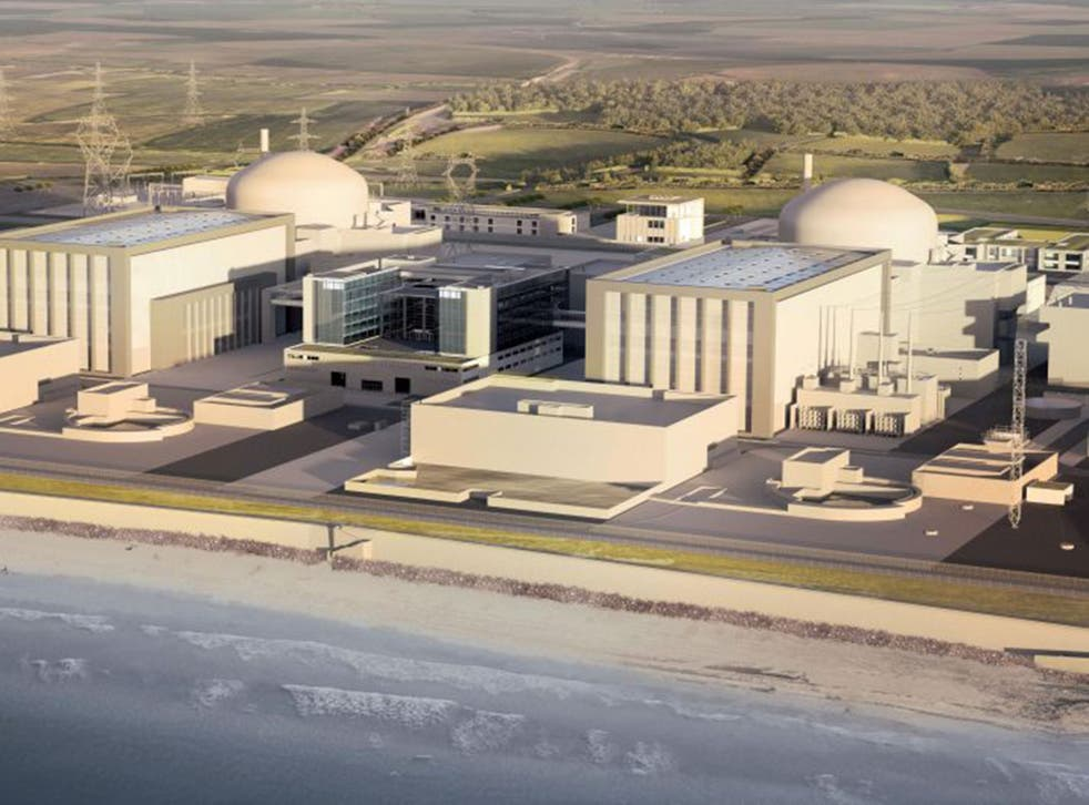 An artist's impression of the Hinkley Point C nuclear power station in Somerset