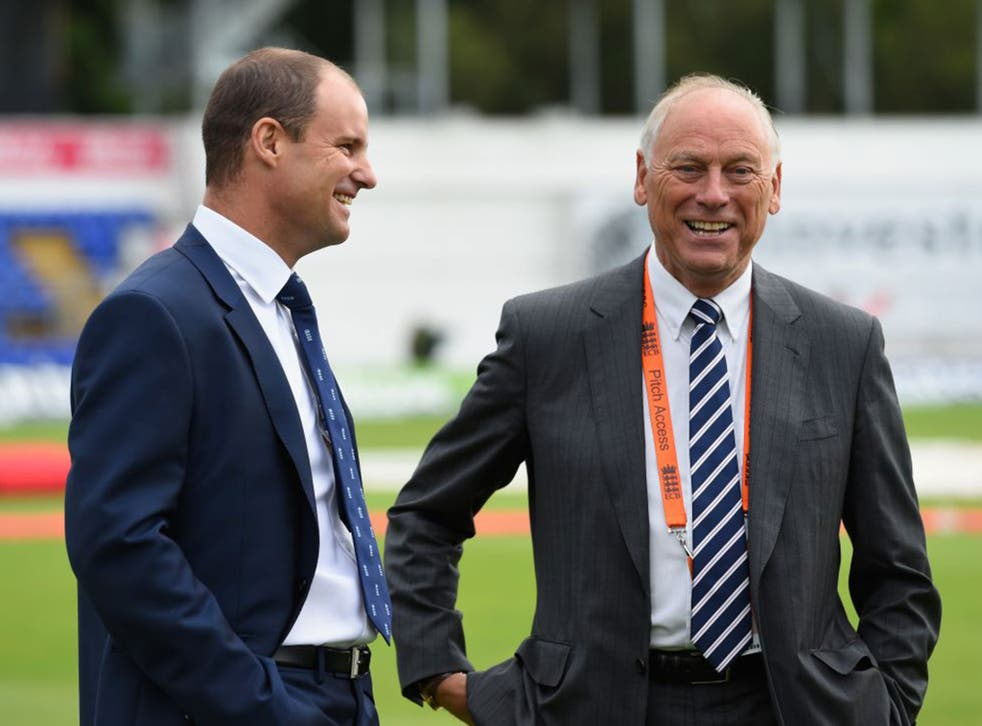 Colin Graves, the ECB chairman, right, has been the driving force behind the restructuring of the county game