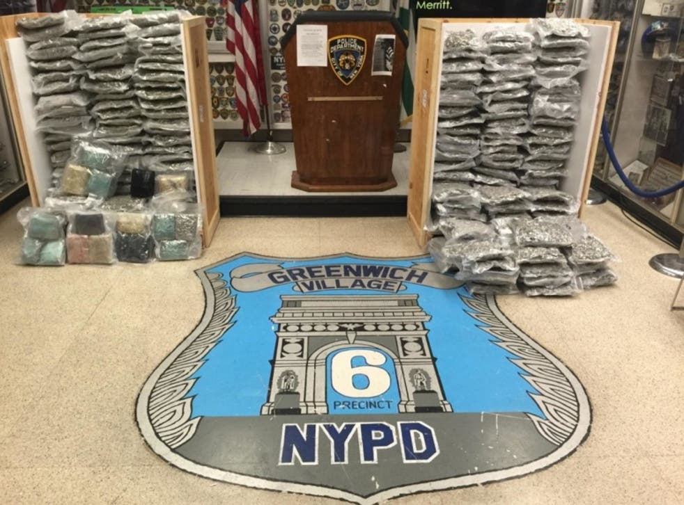 The crates containing the marijuana were reportedly labelled 'art' and 'autoparts'