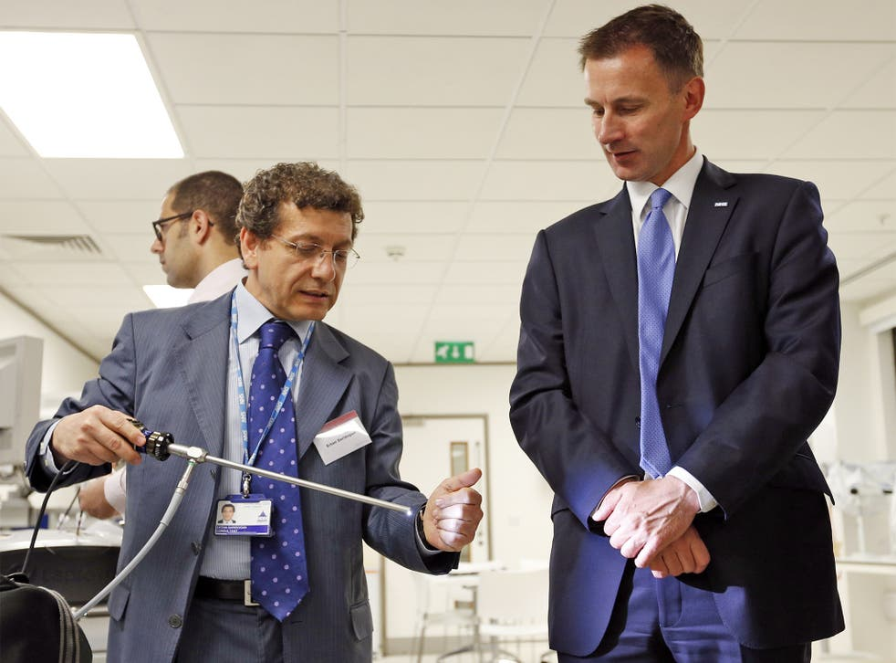 Health Secretary Jeremy Hunt will announce the creation of an independent Healthcare Safety Investigation Branch