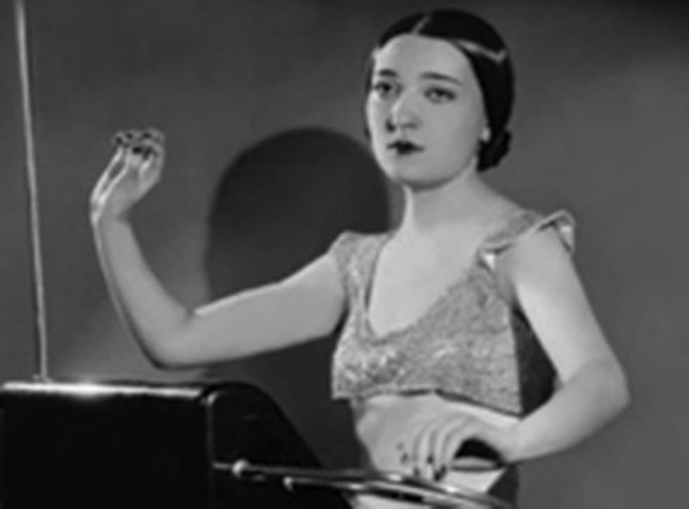Clara Rockmore on the cover of 'Clara Rockmore's Lost Theremin Album'