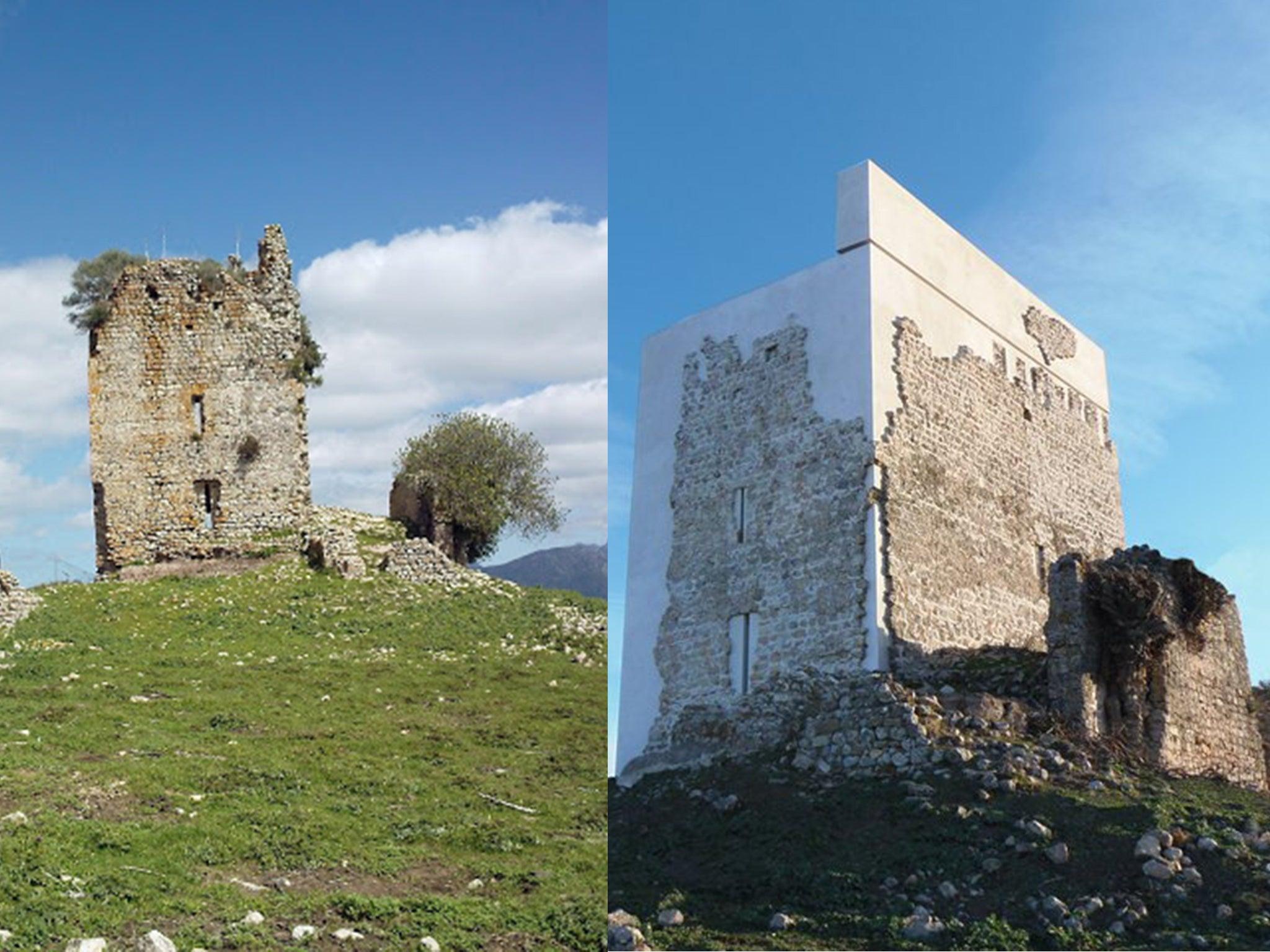 el castillo de matrera  spanish castle restoration in