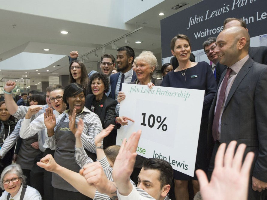 John Lewis and Waitrose bonuses cut for third year running to 10% | The Independentindependent_brand_ident_LOGOUntitled
