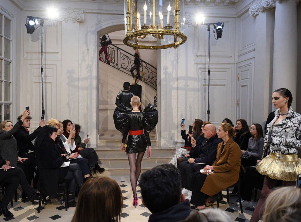 The salon presentation of Saint Laurent to 150 guests
