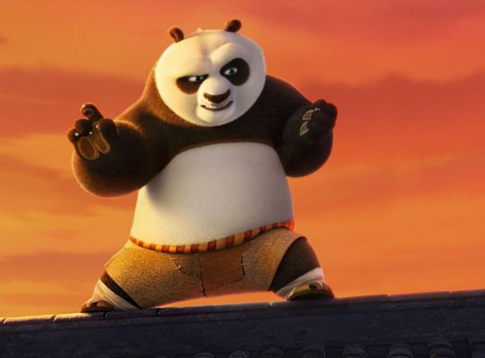 Fists of furry: Jack Black is the voice of Po in the wildly entertaining 'Kung Fu Panda 3