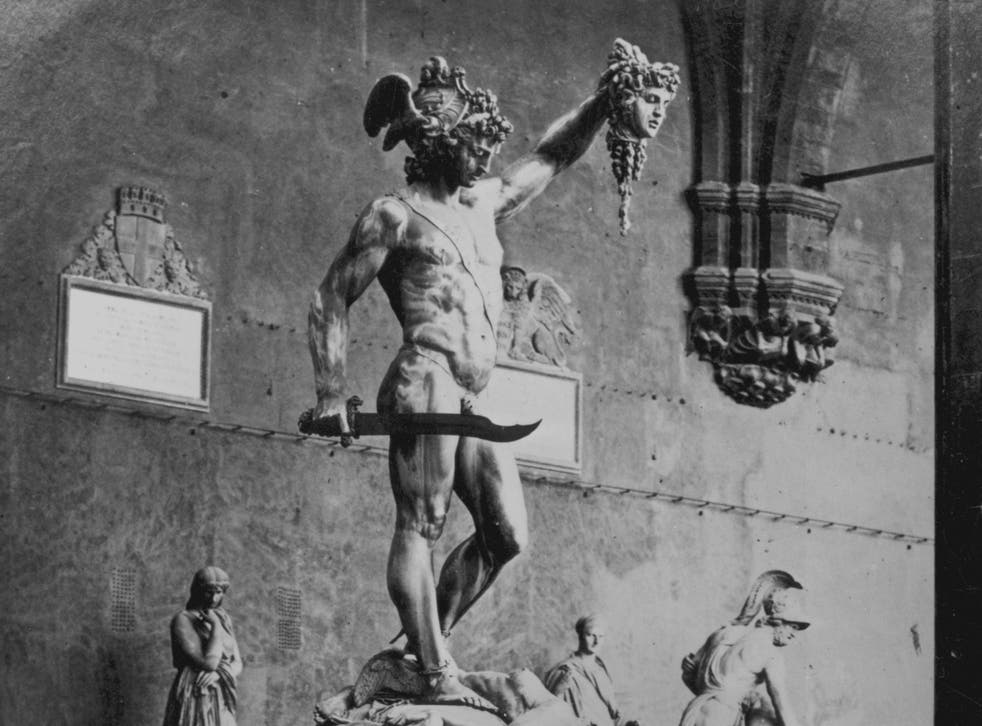 Perseus holding the severed head of the Gorgon Medusa