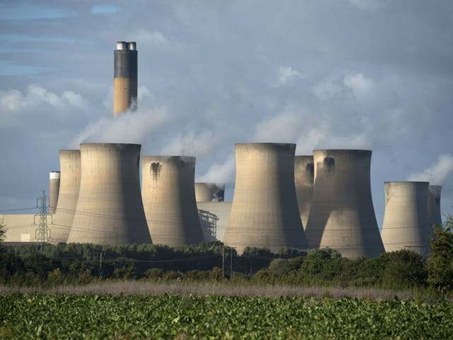The Drax power station near Selby. The Government wants an 'orderly transition' away from coal-powered energy