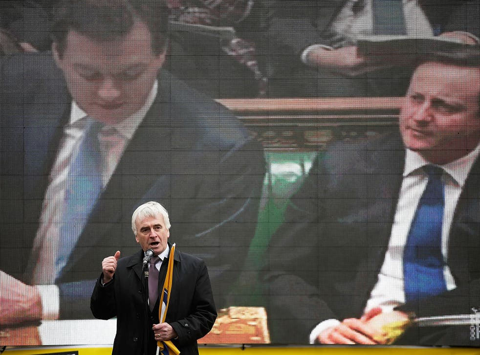 John McDonnell has said that Labour will back George Osborne's fiscal policy