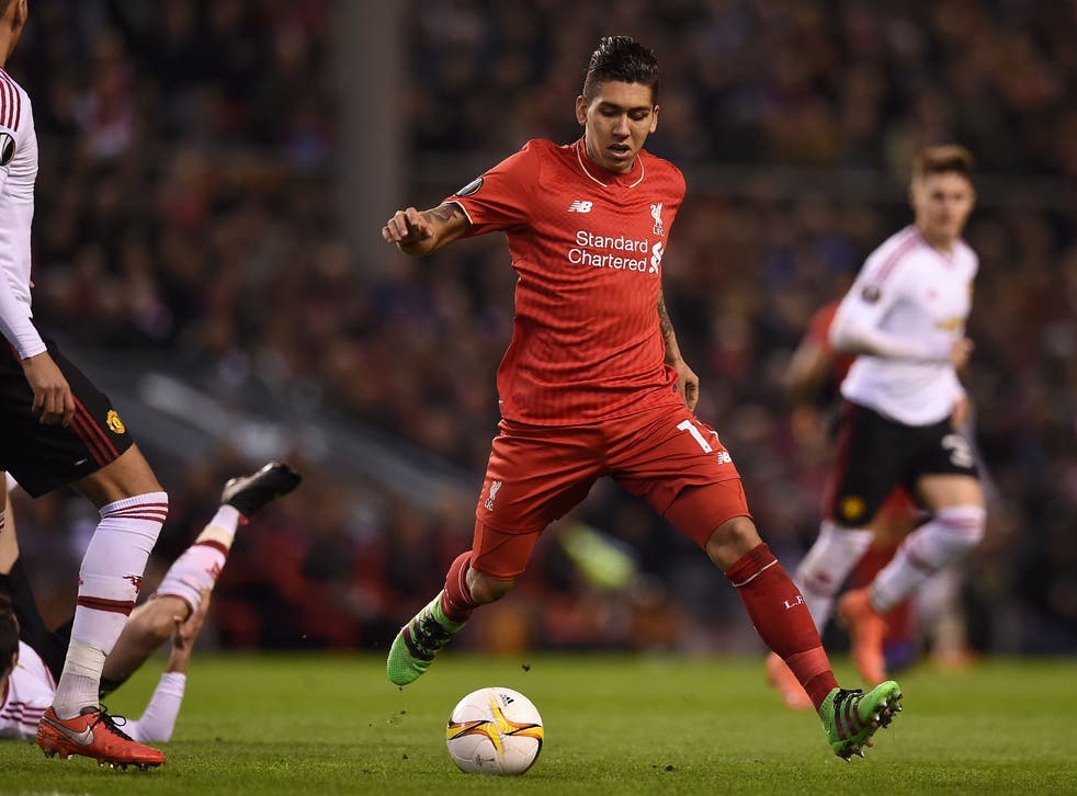 Liverpool midfielder Roberto Firmino