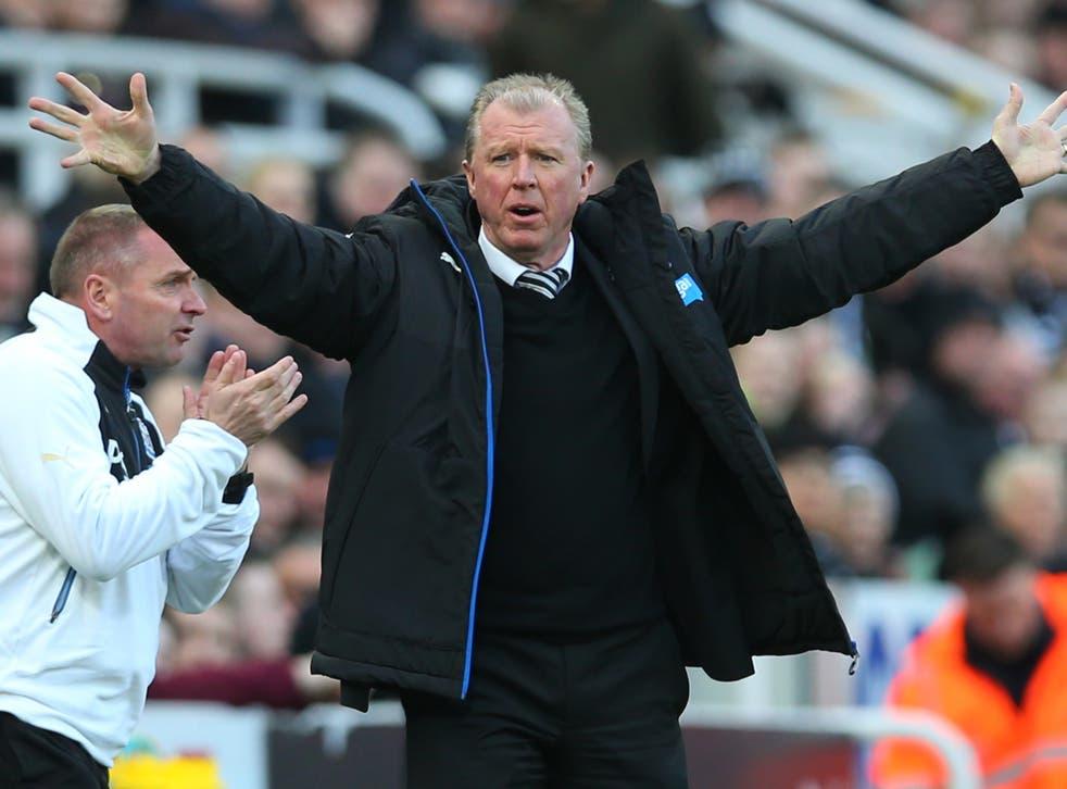 Newcastle United manager Steve McClaren