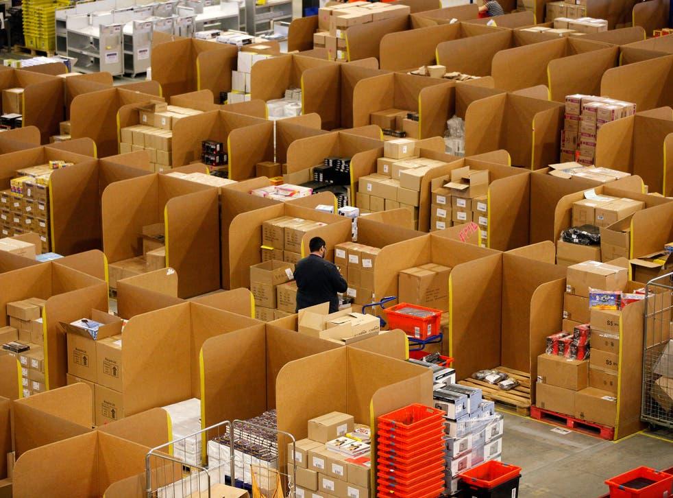 Amazon's 'fulfilment centre' in Marston Gate, Milton Keynes