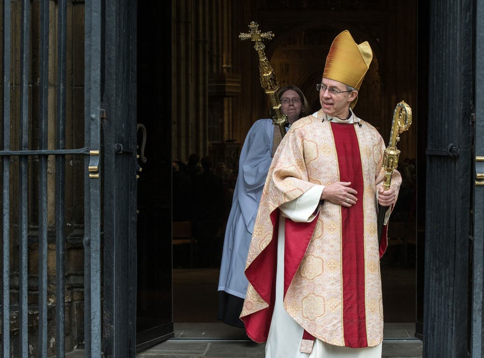 Justin Welby has been criticised for the comments