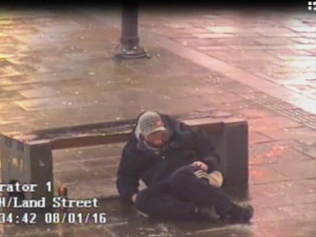 Newcastle CCTV footage shows users of legal highs stumbling around