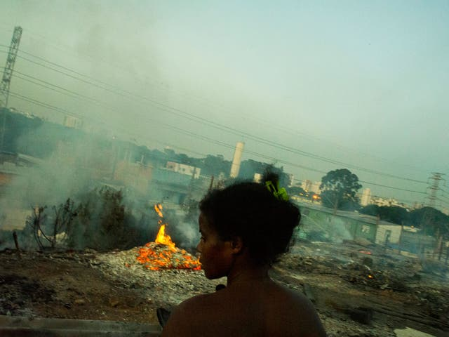 On 14 November 2012, 600 people living in a favela in east Sao Paulo lost their homes to a fire