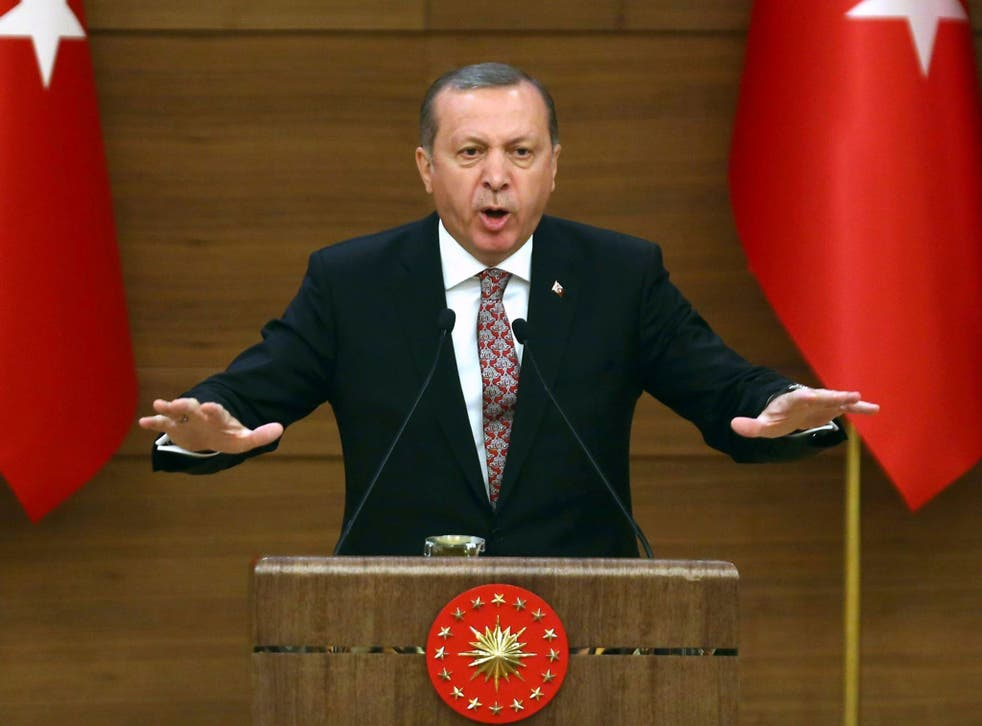 President Erdogan said: 'The media should not have unlimited freedom'