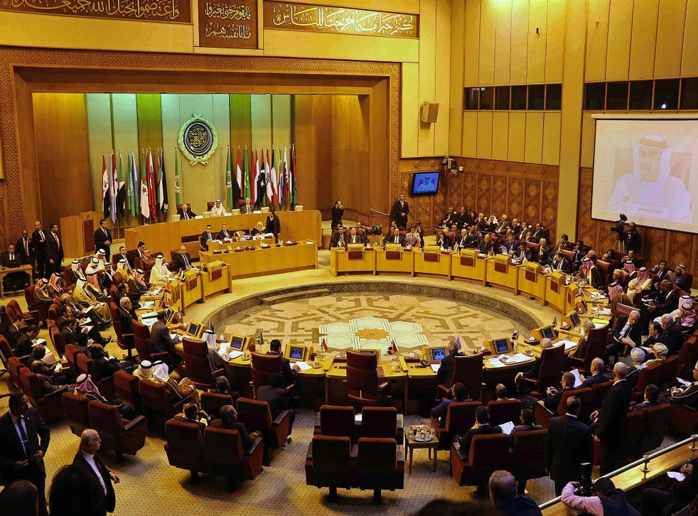Arab foreign ministers attend an emergency Arab League session in Cairo, Egypt in January, deciding in their March meeting to designate Hezbollah as terrorists.