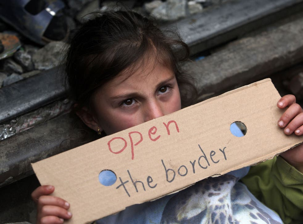 Macedonia has closed its border with Greece; this young refugee is in a camp at Idomeni, a village on the Greek-Macedonian border