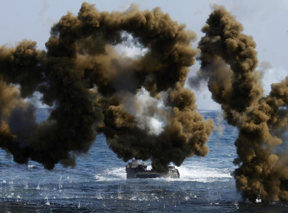 US and South Korean forces stage a training exercise