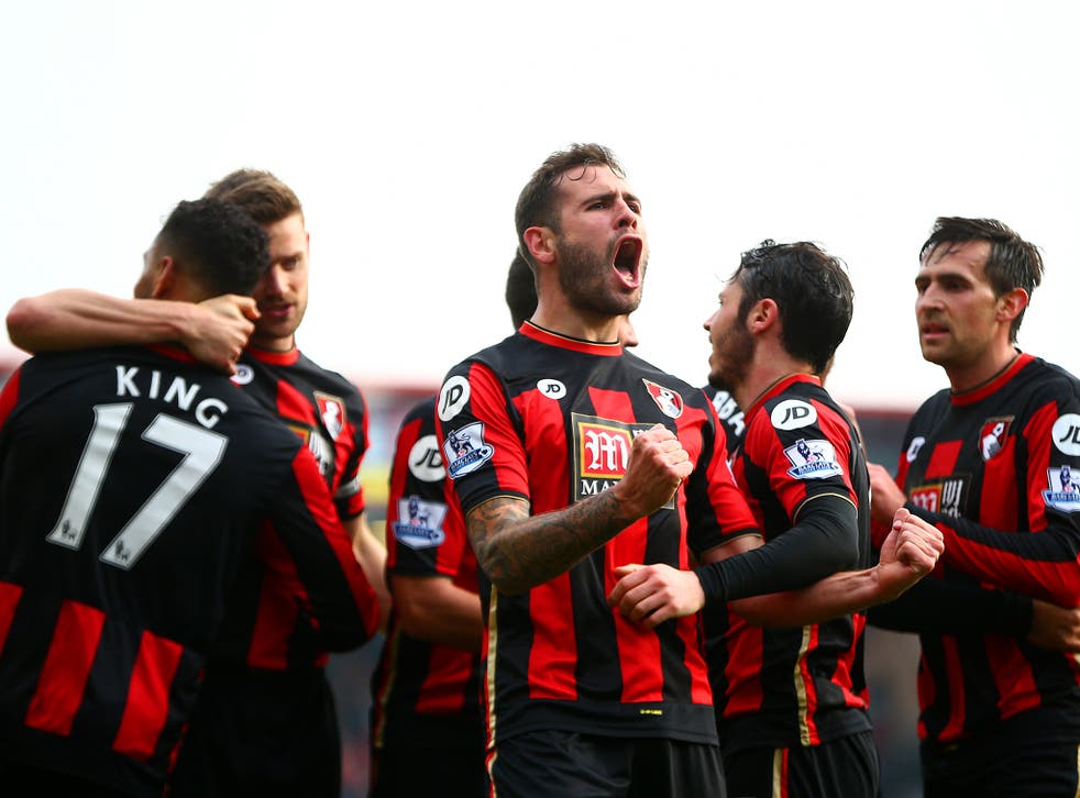 Bournemouth's Steve Cook celebrates his winning goal
