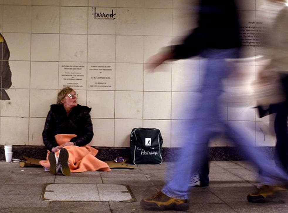 Latest estimates for rough-sleepers found there were double the number of individuals on the streets of England in 2015 compared with 2010