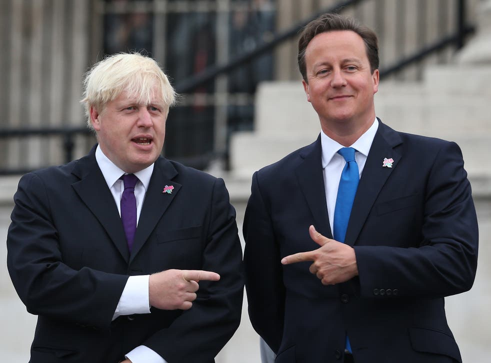 Support for Boris Johnson, left, is on the increase