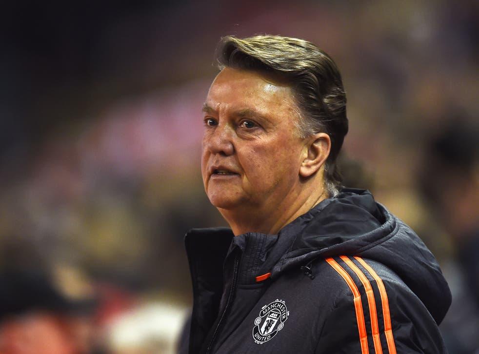 Louis van Gaal oversaw Man Utd's midweek loss to Liverpool