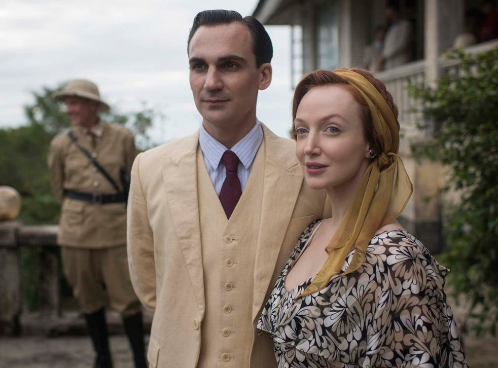 Henry Lloyd-Hughes and Olivia Grant in 'Indian Summers'