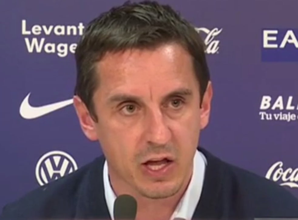 Gary Neville: watch furious manager apologise to Valencia ...