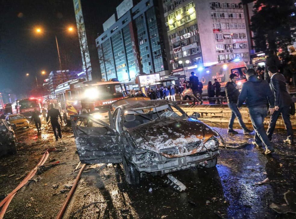 More than 100 people were injured and dozens killed in the bombing