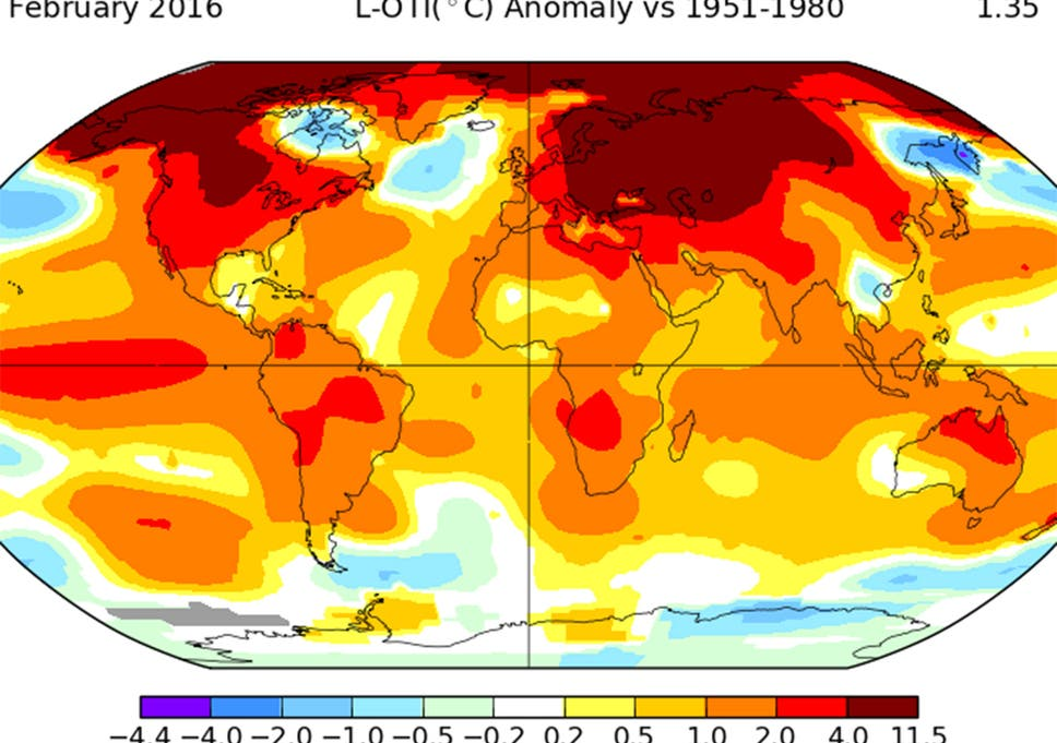 February smashes monthly world temperature records by \'shocking ...