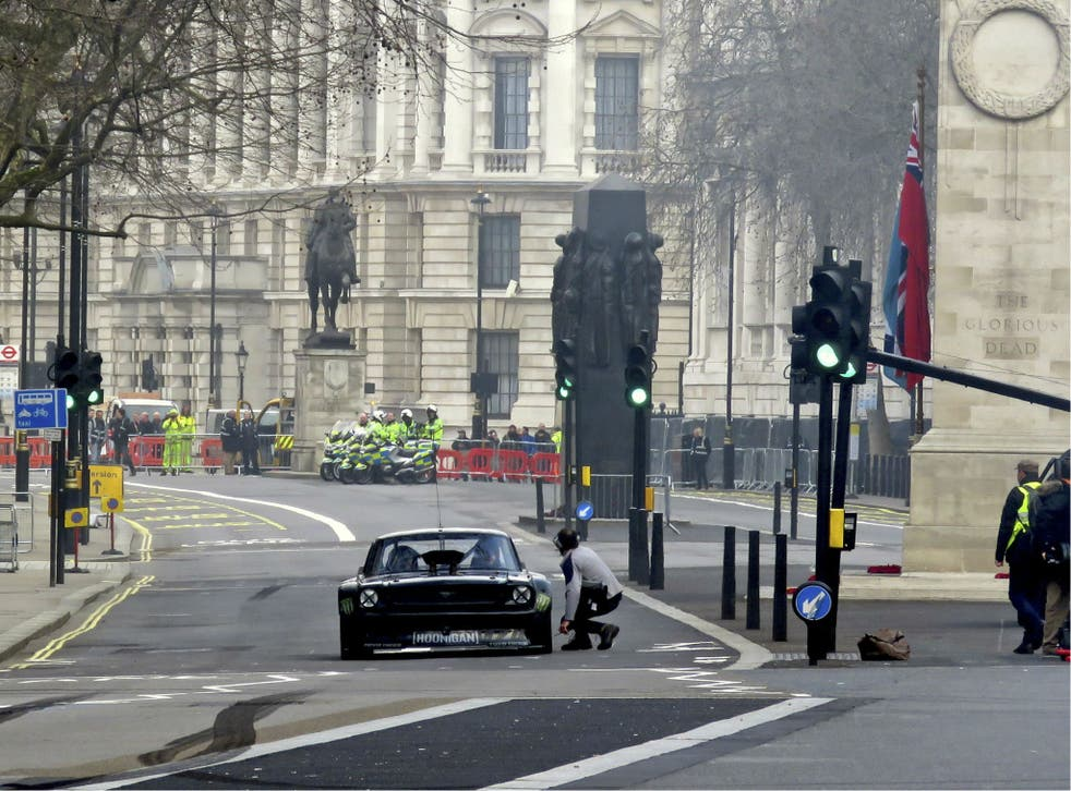 Matt LeBlanc Takes Part in Filming for the New BBC Top Gear Series in Whitehall, London