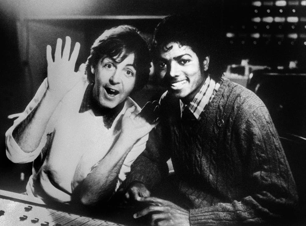 Paul McCartney with Michael Jackson in 1983.