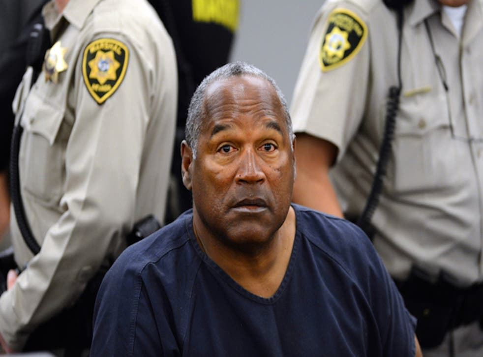 OJ Simpson during a court hearing in Las Vegas on May 14, 2013.
