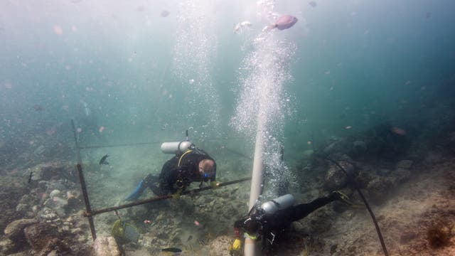The team used airlifts to carefully excavate the wreck, which is more than 500 years old..