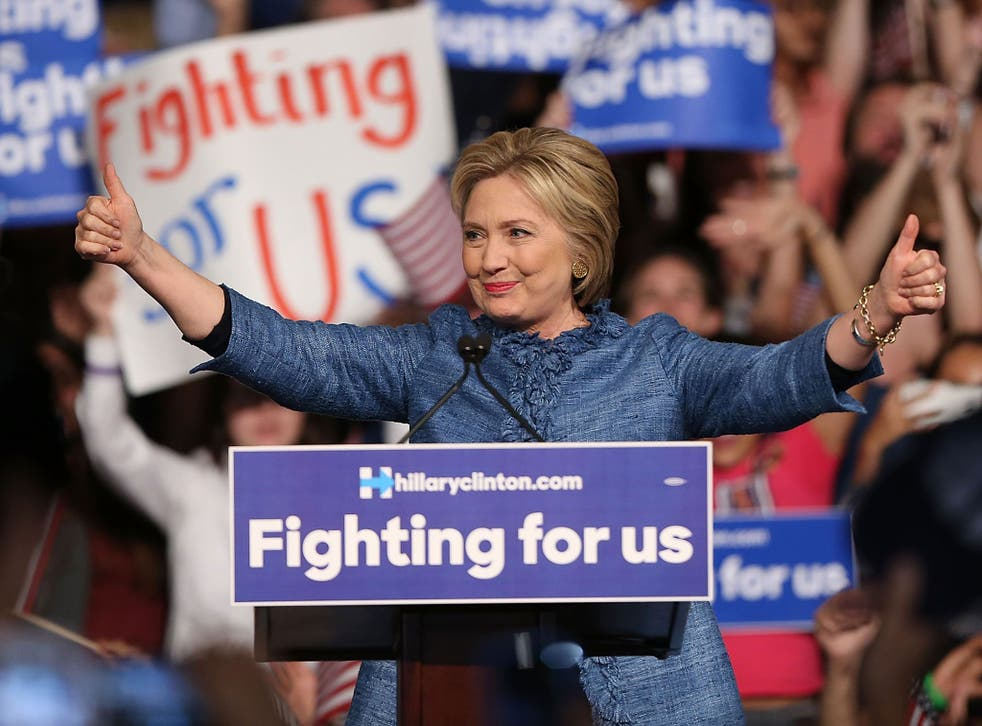 Ms Clinton would take 46 per cent of the voters support to just six per cent for Mr Trump