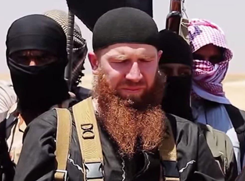 Abu Omar al-Shishani at an unknown location in Syria