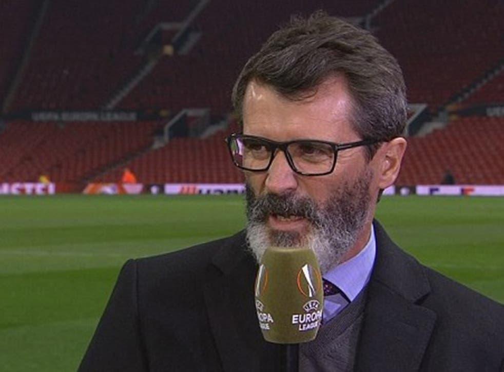 Roy Keane speaking on ITV last night
