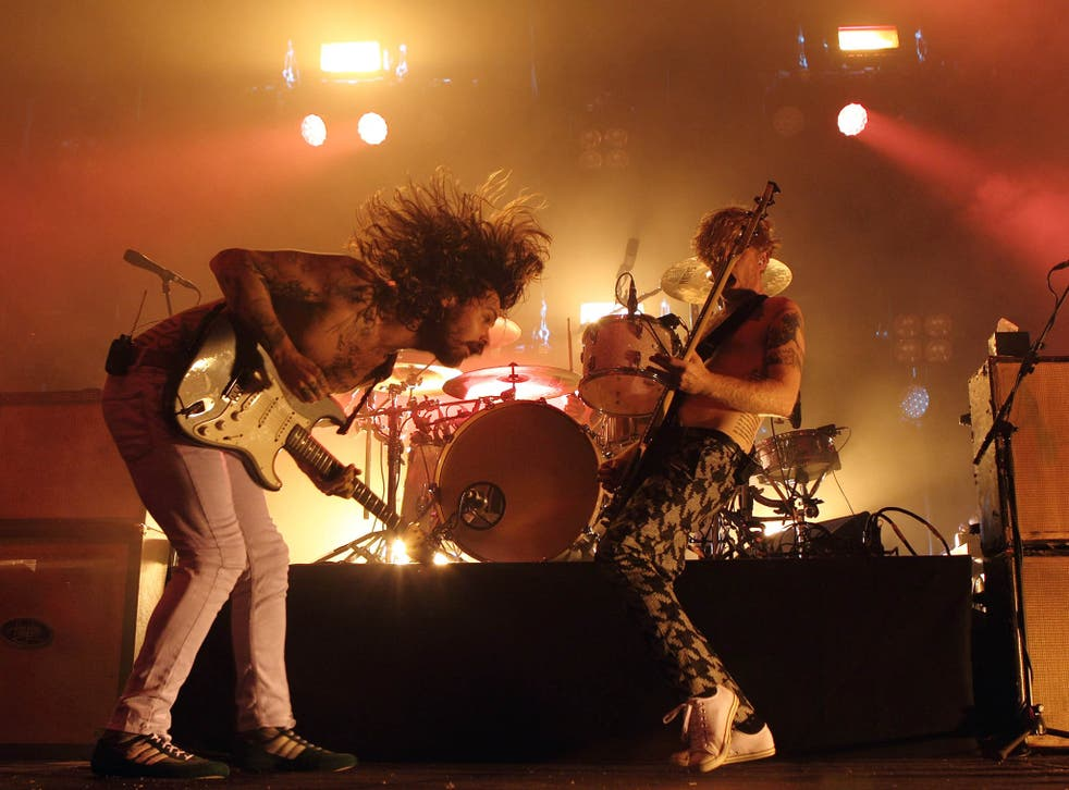 Biffy Clyro perform on stage at the Troxy
