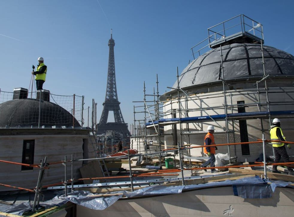 The new Russian Orthodox cathedral in Paris, close to the Eiffel Tower, is due to be finshed by October